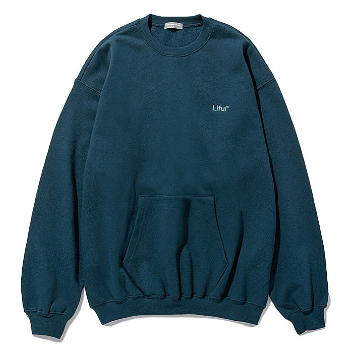 라이풀 크루넥 LIFUL LOGO POCKET SWEATSHIRT-TEAL GREEN