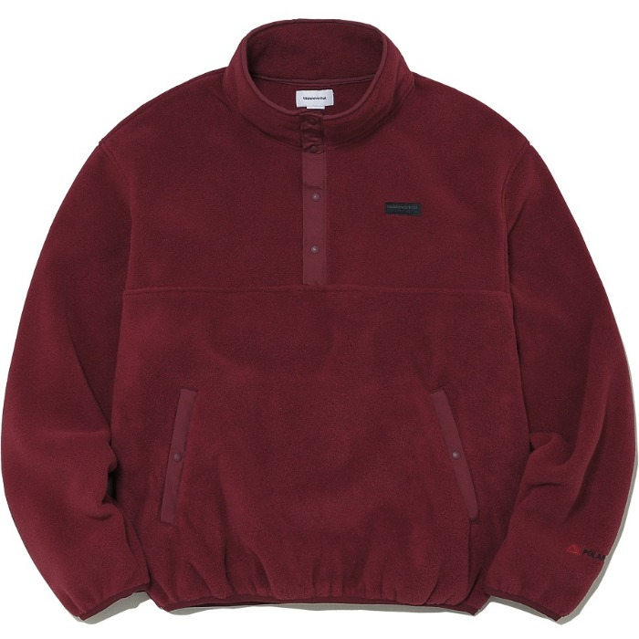 디스이즈네버댓 자켓 POLARTEC FLEECE PULLOVER-BURGUNDY