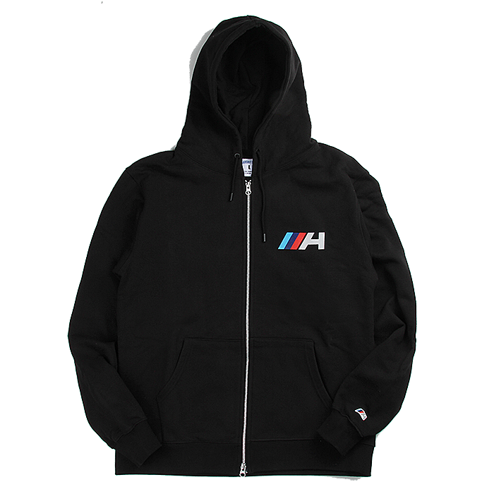 하드히터스 후드집업 MULTI COLOR H HOOD ZIPUP-BLACK