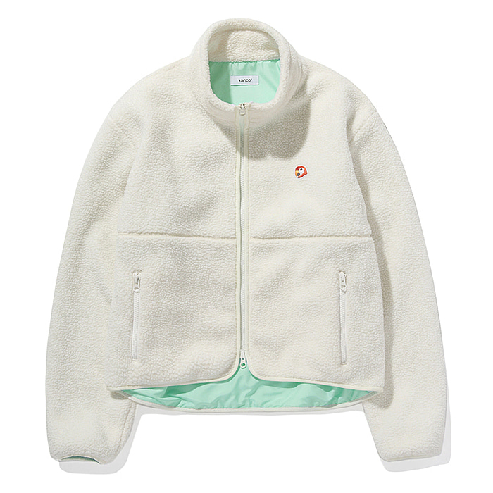 칸코 자켓 KANCO SHERPA JACKET-OFF WHITE