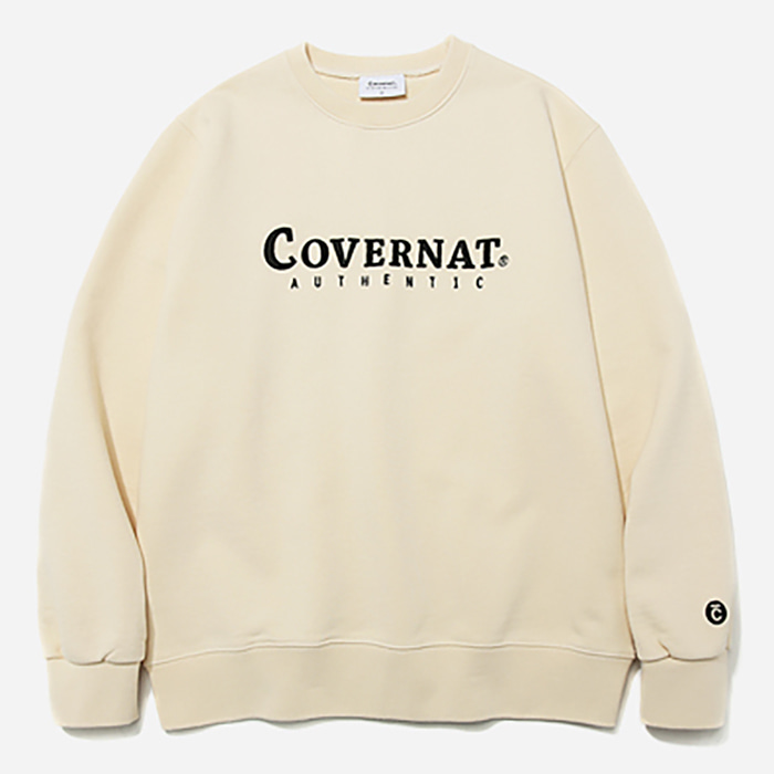 커버낫 크루넥 AUTHENTIC LOGO CREWNECK-IVORY