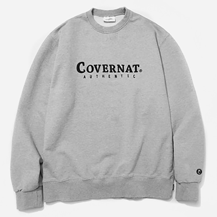 커버낫 크루넥 AUTHENTIC LOGO CREWNECK-GREY