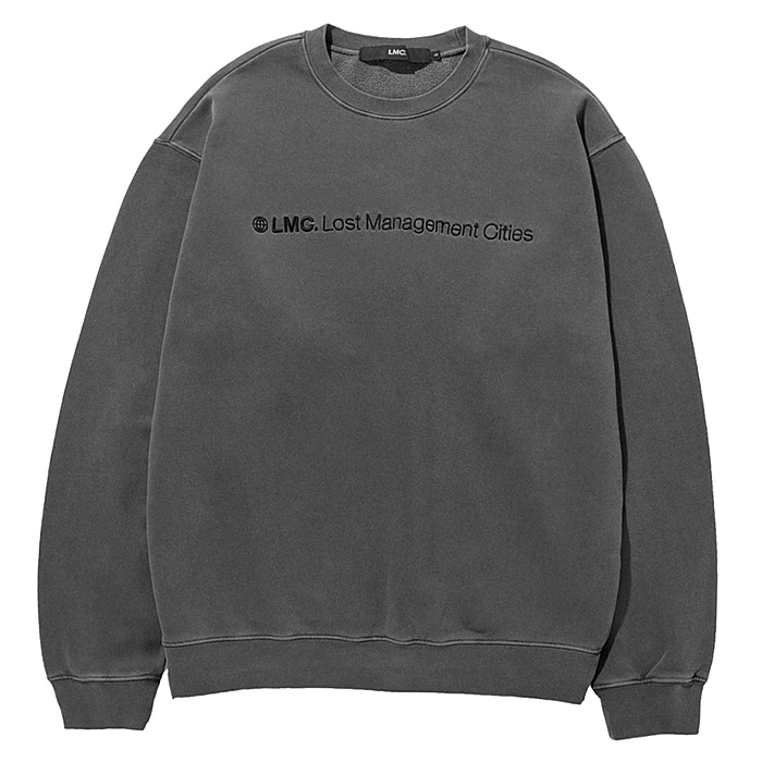 엘엠씨 크루넥 LMC OVERDYED FN SWEATSHIRAT-DARK GREY