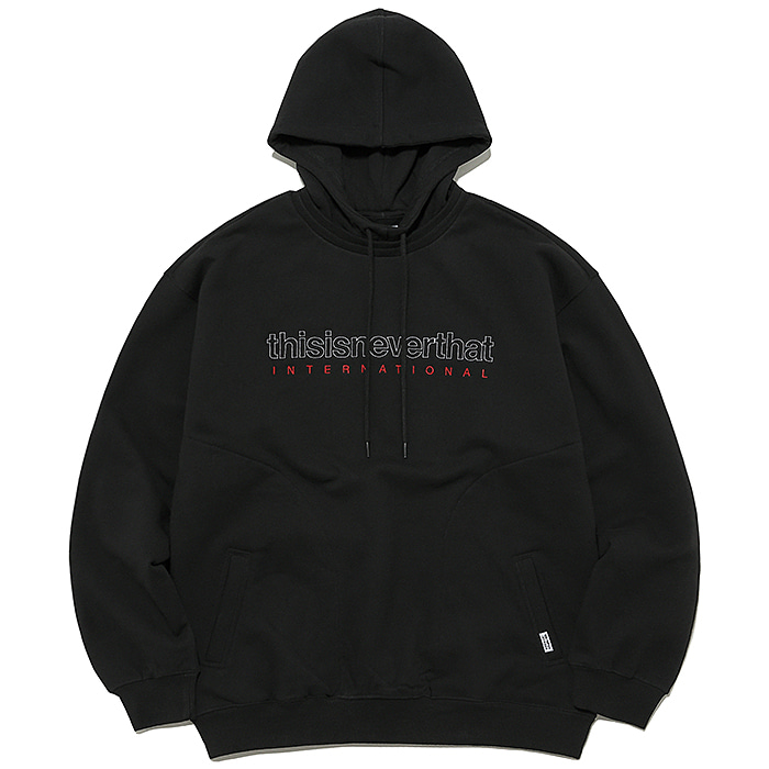 디스이즈네버댓 후드티 INTL. LOGO HOODED SWEATSHIRT-BLACK