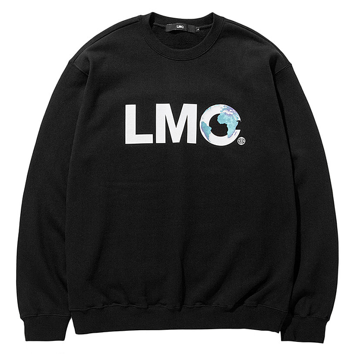 엘엠씨 크루넥 LMC EARTH LOGO SWEATSHIRT-BLACK