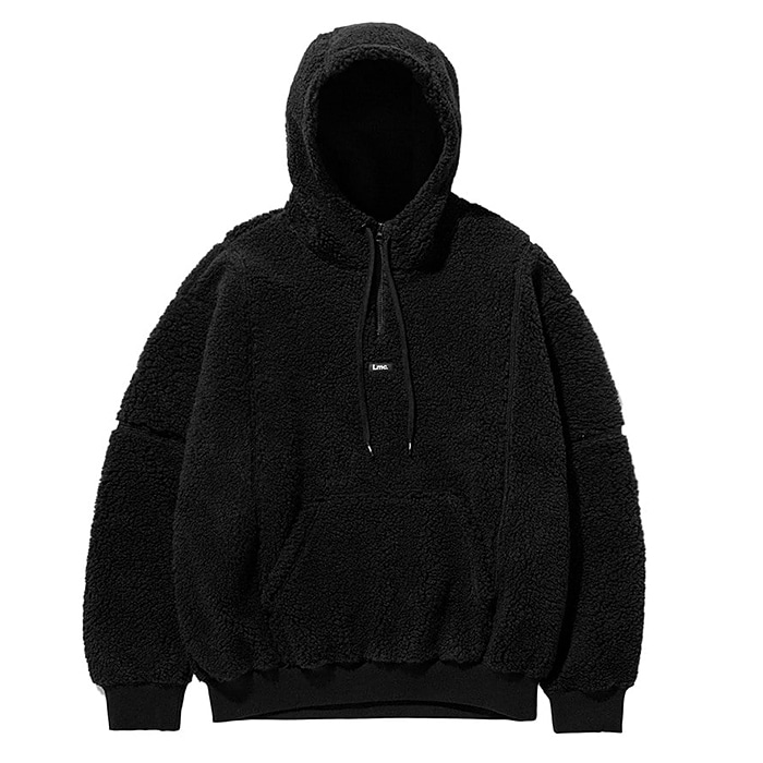 엘엠씨 후드집업 LMC BOA FLEECE QUARTER ZIP HOODIE-BLACK