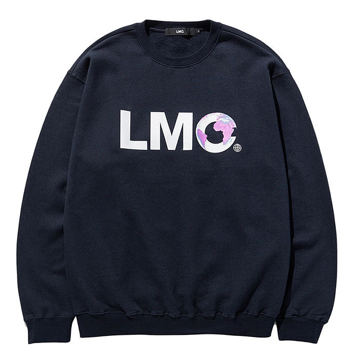 엘엠씨 크루넥 LMC EARTH LOGO SWEATSHIRT-NAVY