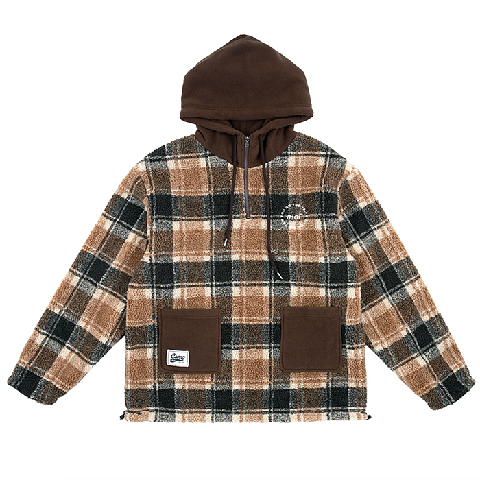 오아이오아이 아노락 REVERSIBLE SHEARLING ANORAK-BROWN
