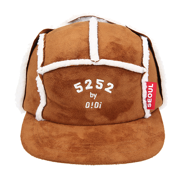 오아이오아이 모자 MUSTANG TROOPER CAP-BROWN