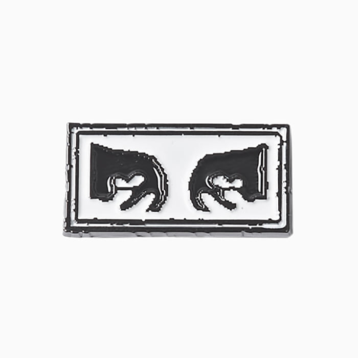 오베이 핀 OBEY EYES PIN-BLACK/WHITE