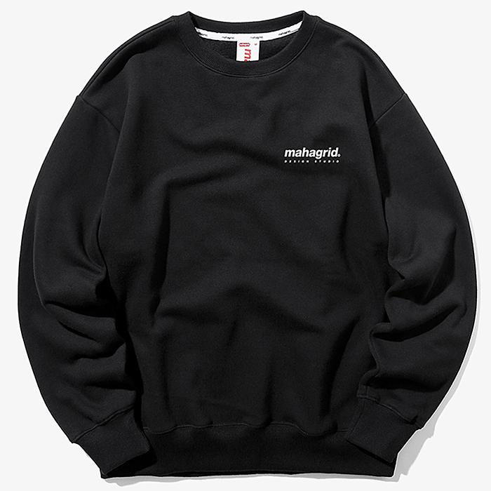 마하그리드 맨투맨 ORIGIN LOGO CREWNECK-BLACK