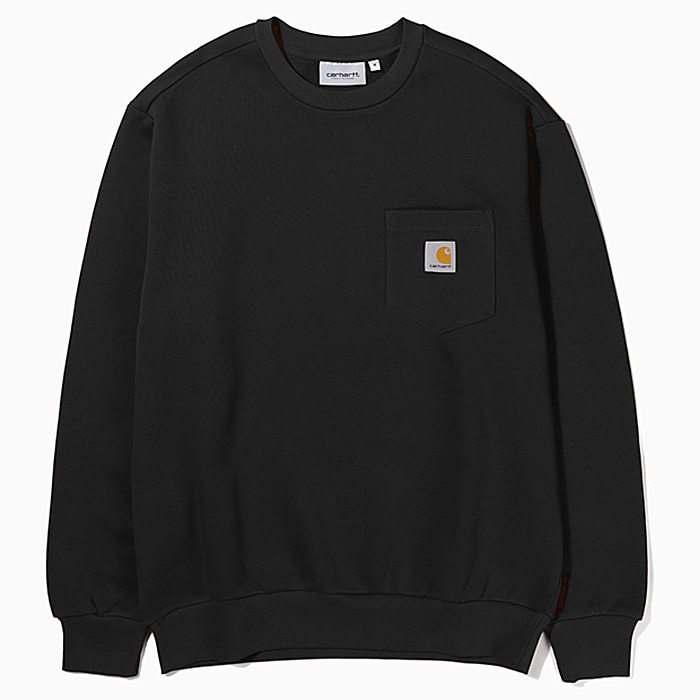 칼하트WIP 맨투맨 POCKET LOOSE SWEATSHIRT-BLACK