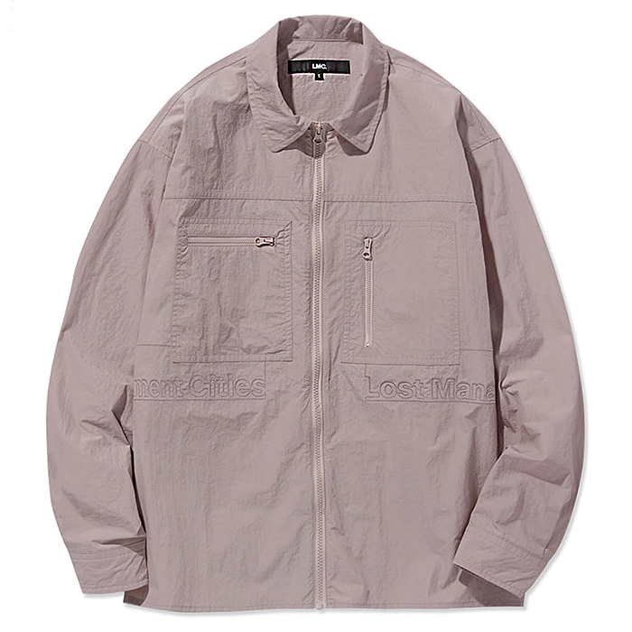 엘엠씨 셔츠 LMC FULL ZIP WORK SHIRT-PINK