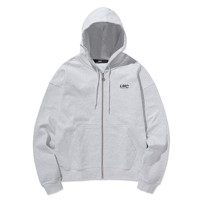 엘엠씨 후드집업 LMC ITALIC ZIP-UP HOODIE-HEATHER GREY