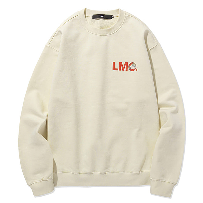엘엠씨 맨투맨 LMC FRONT EARTH SWEATSHIRT-BEIGE
