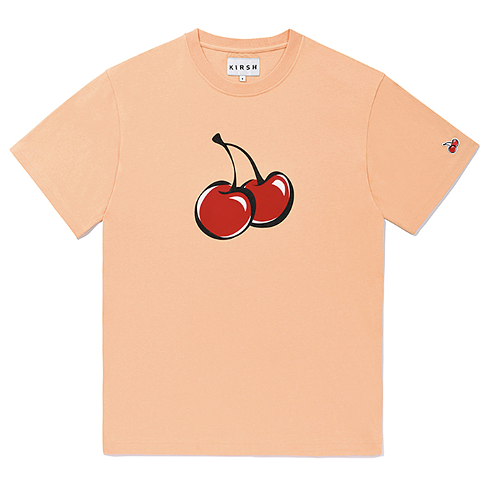 키르시 반팔티 BIG CHERRY T-SHIRT JS-LIGHT ORANGE