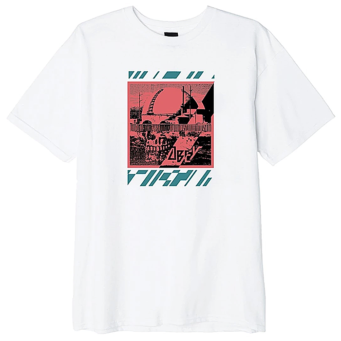 오베이 반팔티 OBEY MELTDOWN SKULL TEE-WHITE