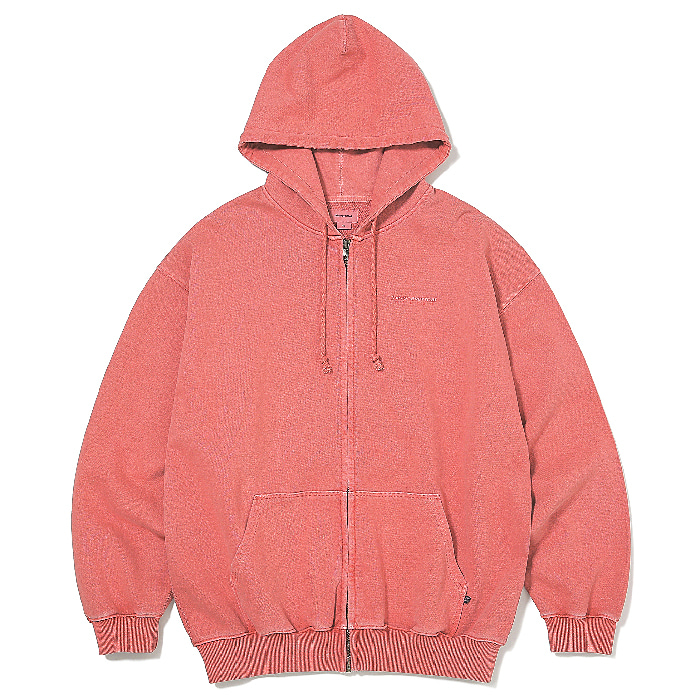 디스이즈네버댓 집업 DSN-LOGO ZIPUP SWEAT-DEEP CORAL