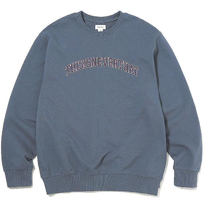 디스이즈네버댓 맨투맨 ARC-LOGO CREWNECK-DARK BLUEGREY