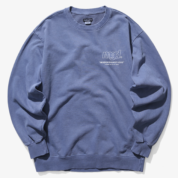 마하그리드 맨투맨 LICENSE PIGMENT CREWNECK-NAVY