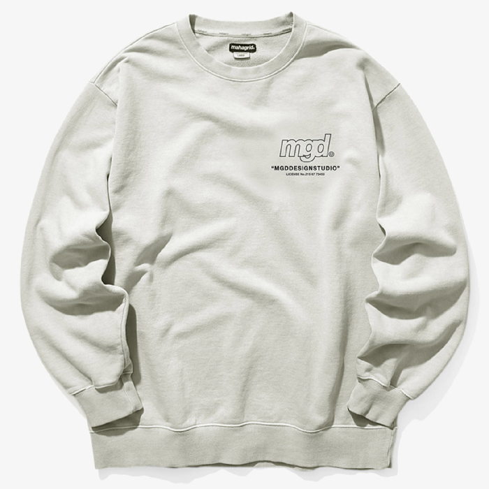 마하그리드 맨투맨 LICENSE PIGMENT CREWNECK-BEIGE