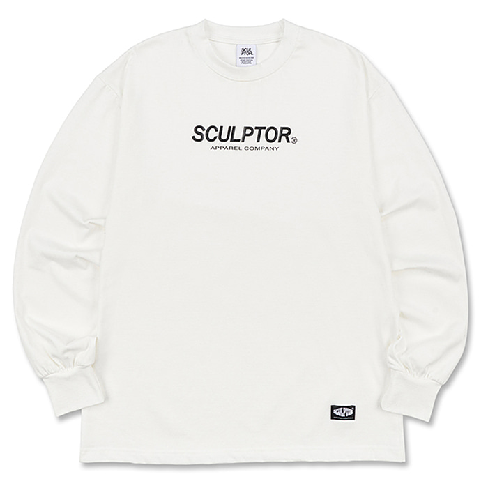 스컬프터 긴팔티 S/LOGO LONG SLEEVES-WHITE