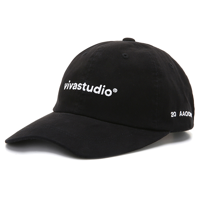 비바스튜디오 모자 WASHED LOGO BALL CAP JS-BLACK