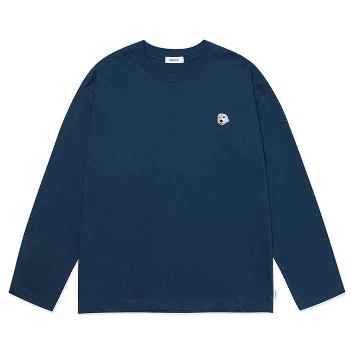칸코 긴팔티 KANCO LOGO LONG SLEEVE TEE-NAVY
