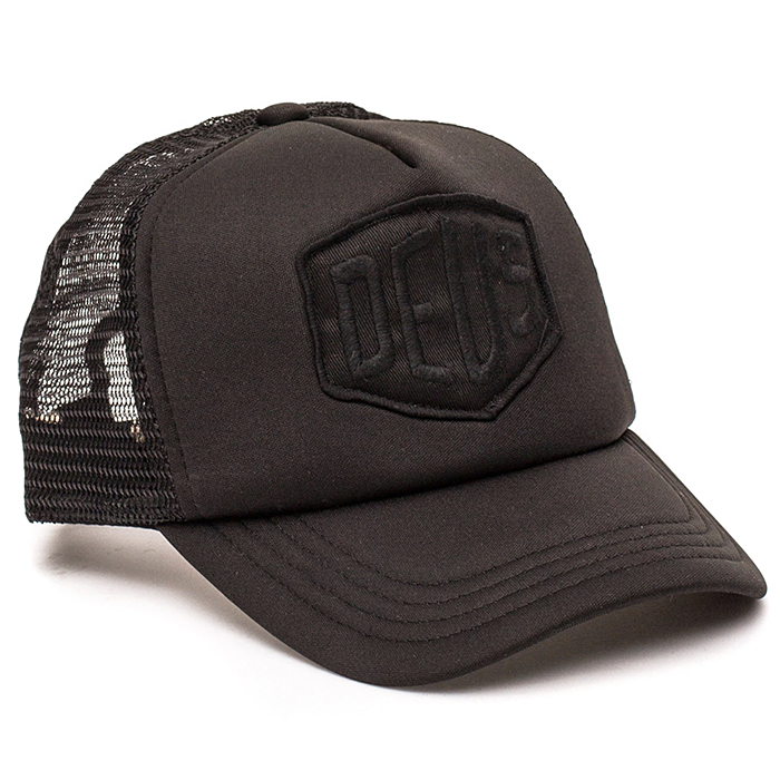 데우스 모자 BAYLANDS TRUCKER-BLACK