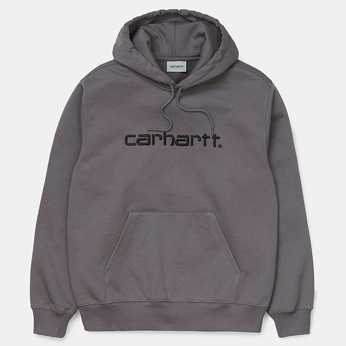 칼하트WIP 후드티 HOODED CARHARTT SWEATSHIRT-HUSKY/BLACK