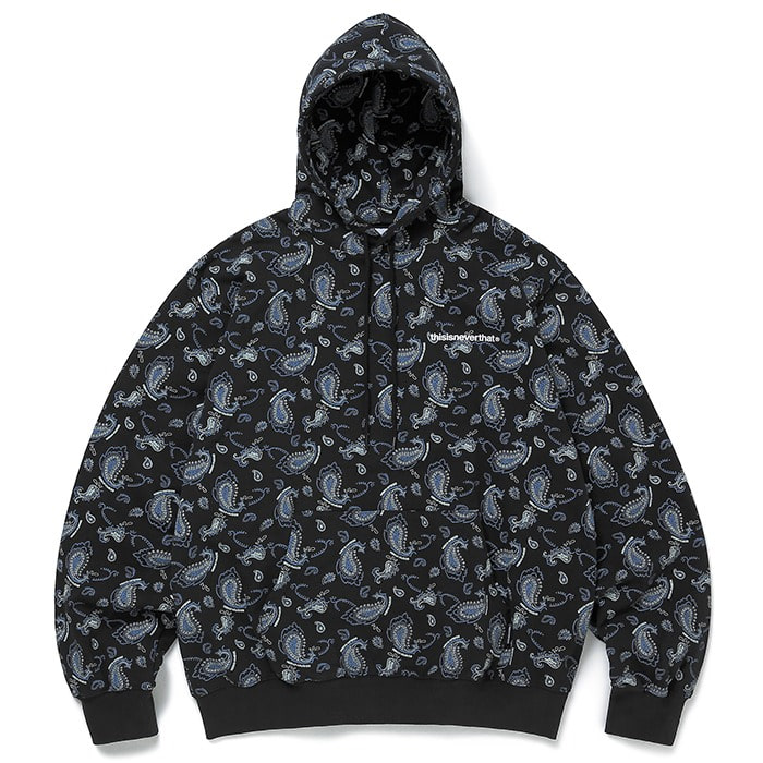 디스이즈네버댓 후드티 PAISLEY HOODED SWEATSHIRT-BLACK