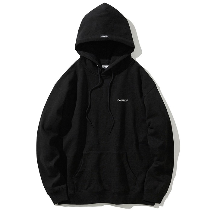 커버낫 후드티 SMALL AUTHENTHIC HOODIE-BLACK