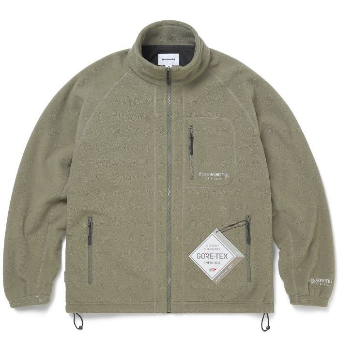디스이즈네버댓 자켓 GORE-TEX INFINIUM FLEECE JACKET-KHAKI
