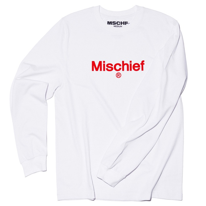 미스치프 긴팔티 UNIFORM LONG SLEEVE TEE-WHITE