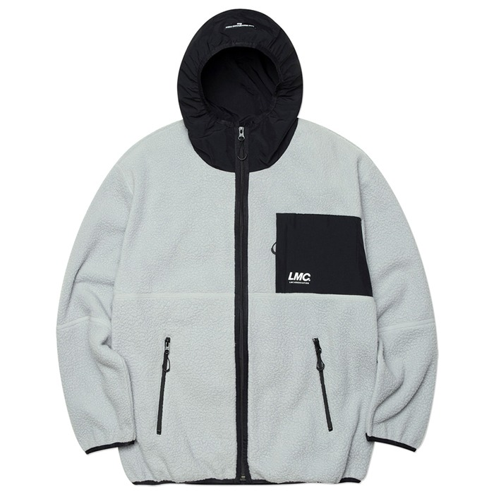 엘엠씨 후리스 자켓 LMC HOODED FLEECE JACKET-GREY