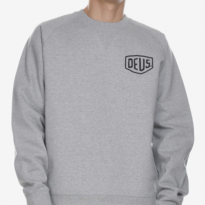 데우스 맨투맨 SEOUL ADDRESS CREWNECK-GREY MARLE
