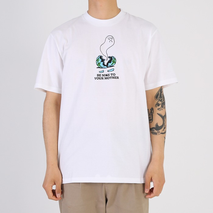칼하트WIP S/S NICE TO MOTHER T-SHIRT-WHITE