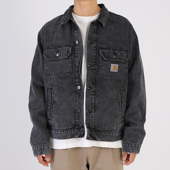 칼하트WIP STETSON JACKET BLACK-WORN WASHED