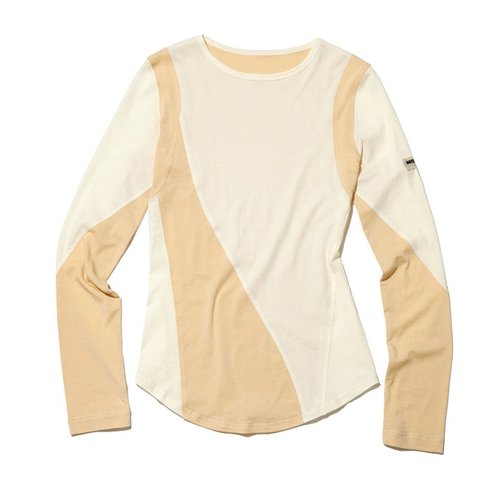 미스치프 PROJECT MAGO_ COLOR-BLOCKED JERSEY TOP-CREAM