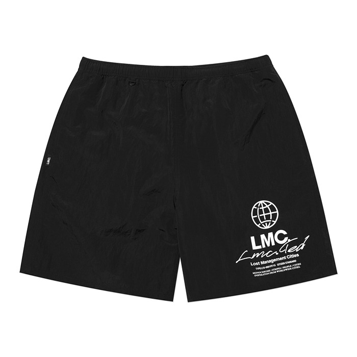 엘엠씨 LMC TED GLOSSY WATER SHORTS-BLACK