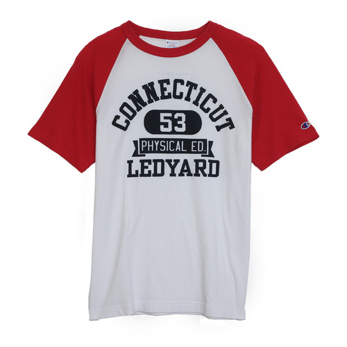 CONNECTICUT RAGLAN TEE-RED