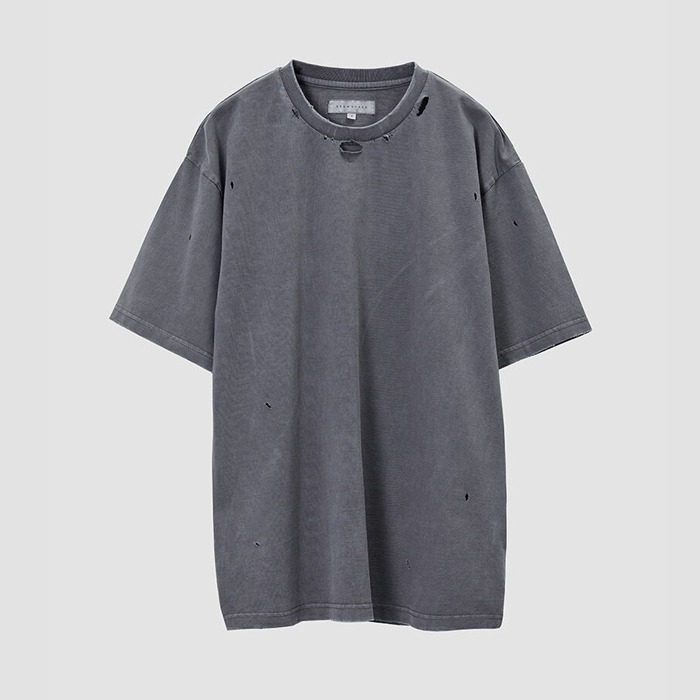 브라운야드 DAMAGE T SHIRT-DARK GREY