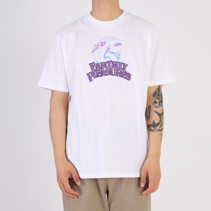 칼하트WIP S/S EARTHLY PLEASURES T-SHIRT-WHITE