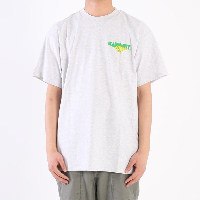 칼하트WIP S/S RUNNER T-SHIRT-ASH HEATHER